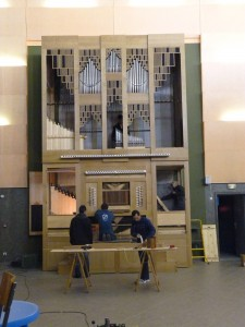 Installation de l'orgue